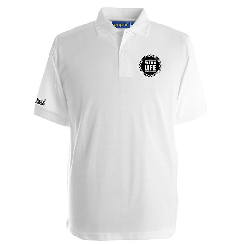 Ska'd 4 Life Polo Shirt White