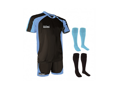 Teamwear Training Kit Black/Sky