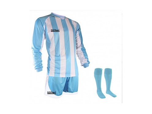 Teamwear Striped kit Sky/White
