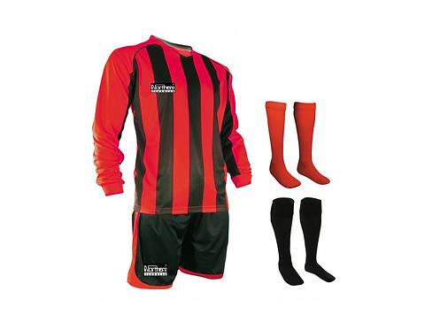 Teamwear Striped kit Red/Black
