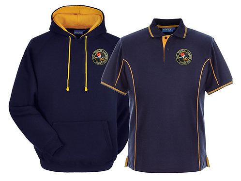 Torch Hoodie & Polo Combo Navy-Gold