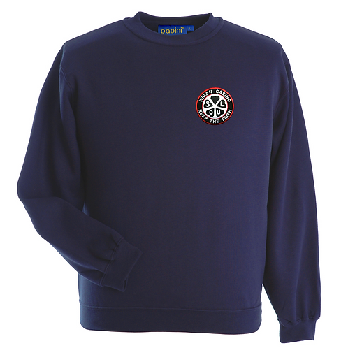 Bespoke Embroided Navy Sweat