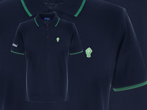 Retro Discreet Fist Polo 2 Navy/Green