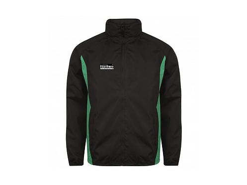 Teamwear League Rain Full Zip Jacket Black/Green