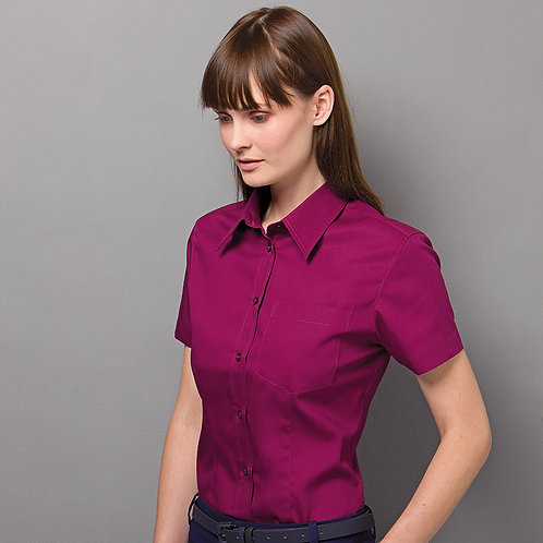 Ladies corporate oxford blouse KK719
