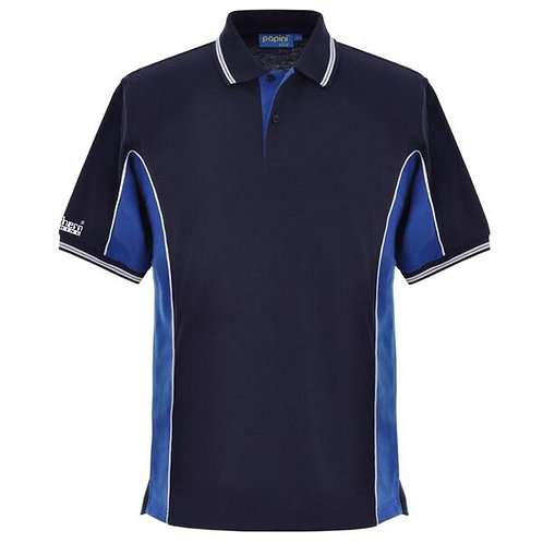 Bespoke Navy Royal White Polo