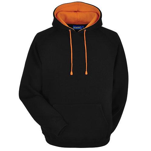 Bespoke Hoodie Black/Orange