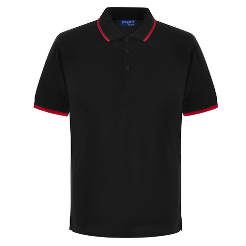Elite Tipped Black-Red Polo Shirt