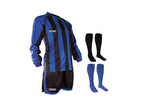 Teamwear Striped kit Royal/Black