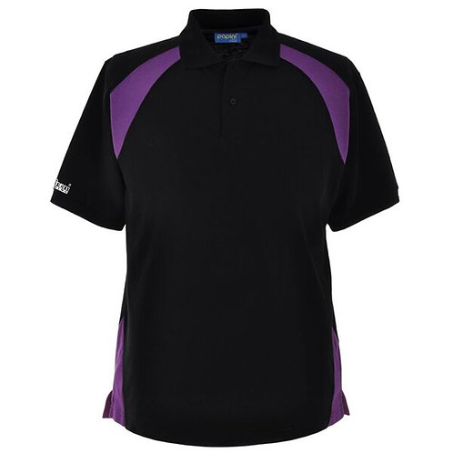 Bespoke Black Purple Polo