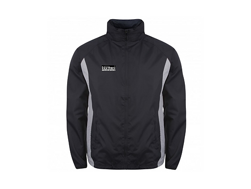 Teamwear League Rain Full Zip Jacket Navy/Silver