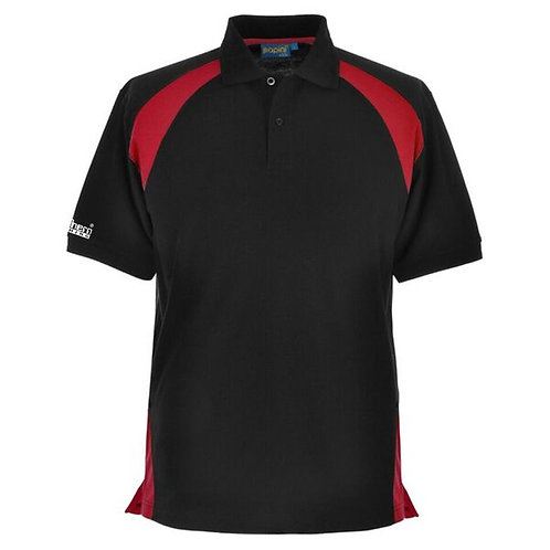 Bespoke Black Red Polo