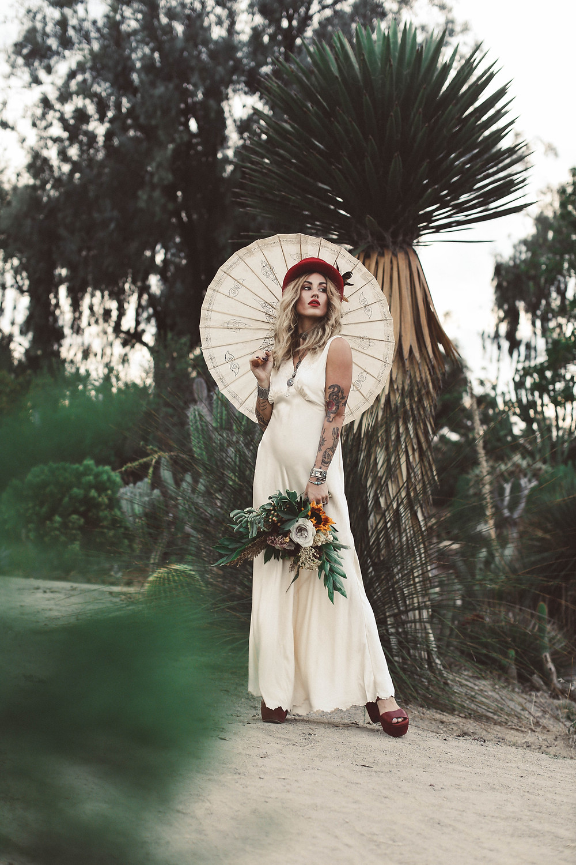 Lazaro Floral Stevie Nicks Bride