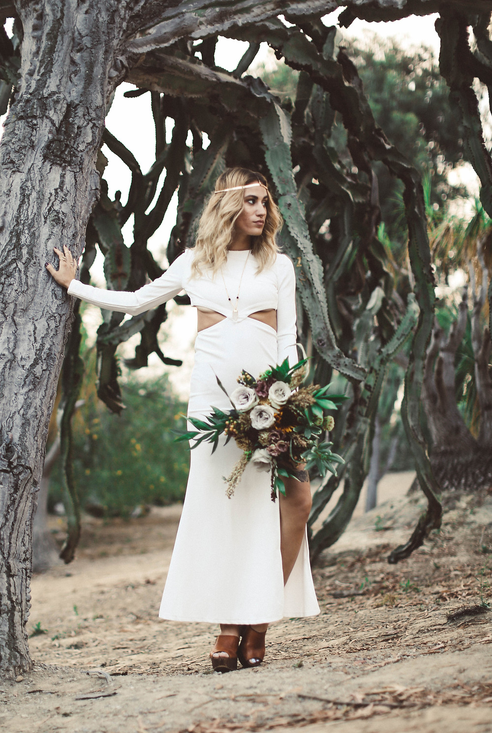 Lazaro Floral Bohemian Wedding