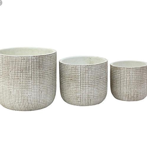 Grid pattern pot round
