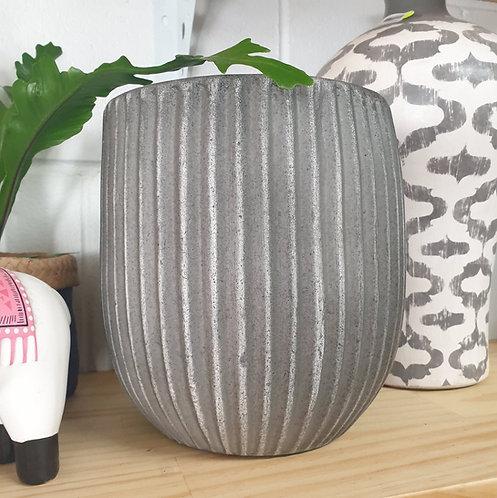 Charcoal Striped Pots