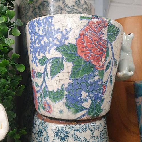 16cm Red/ Blue Pot