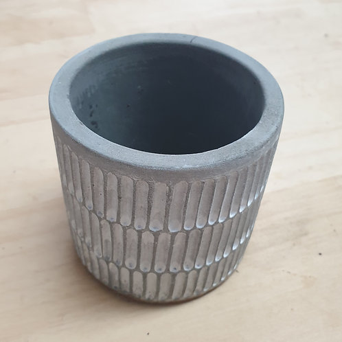 Grey lined pot Small