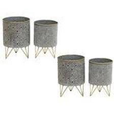 Grey / Black Moroccan Gold Rim / Legs