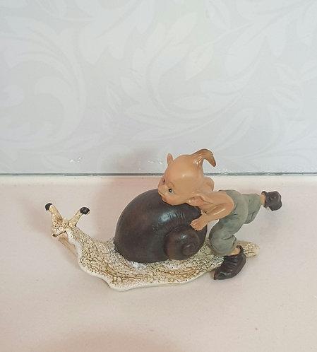 Elf Pushing Snail