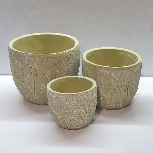 Leaf Pots Green