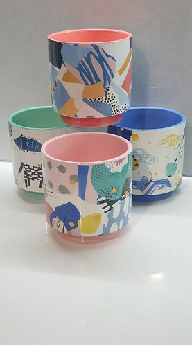 Abstract Colourful pots