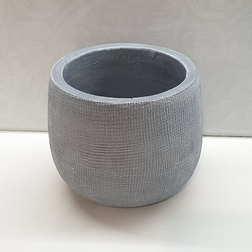 Grey Hessian Pot