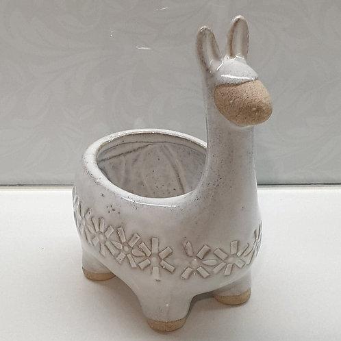 Llama Planter White