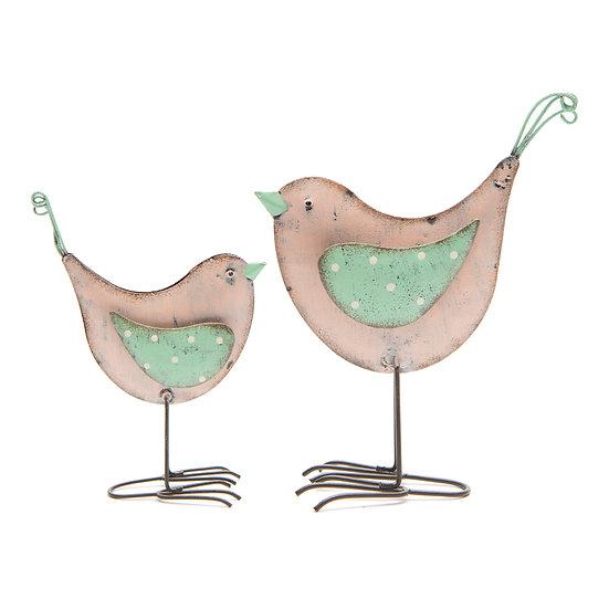 Bird pair - Pink / Green