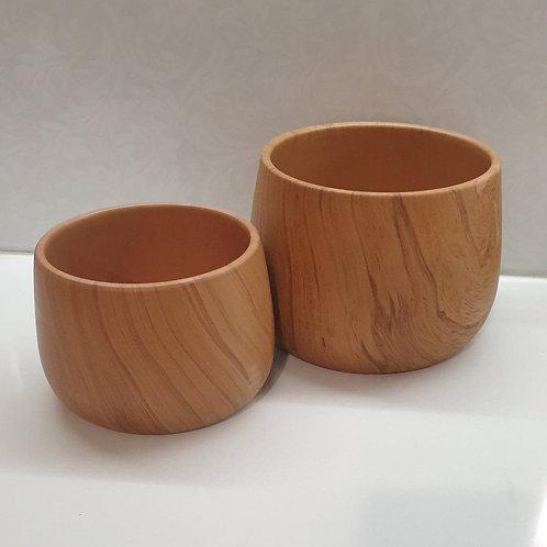 Timber look Pots