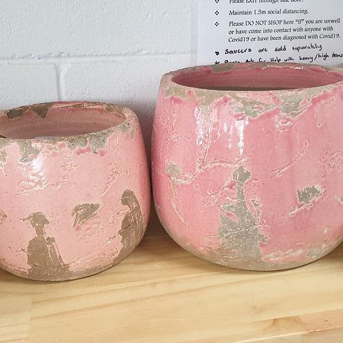 Rustic Pink Paint Pots