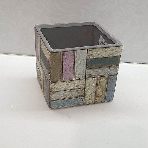 Painted Timber Pot