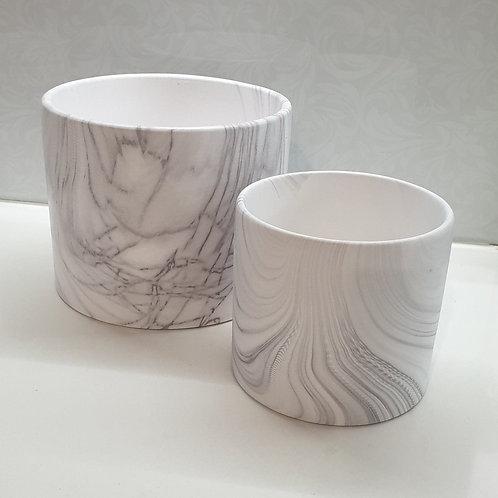 Marble Cylinder Pots