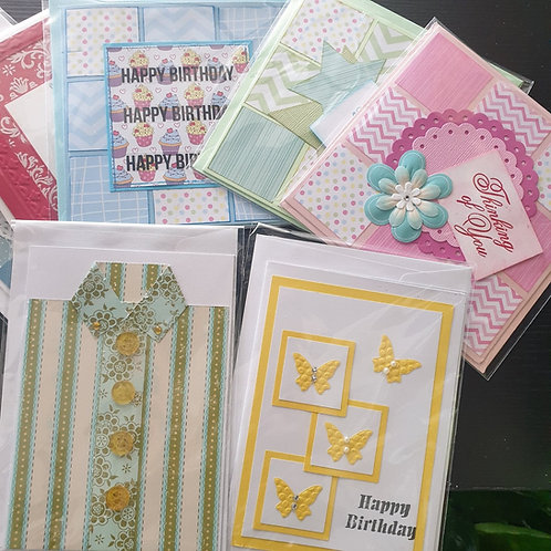 Handmade Cards, Gift Boxes, Surprise Choc Boxes & more