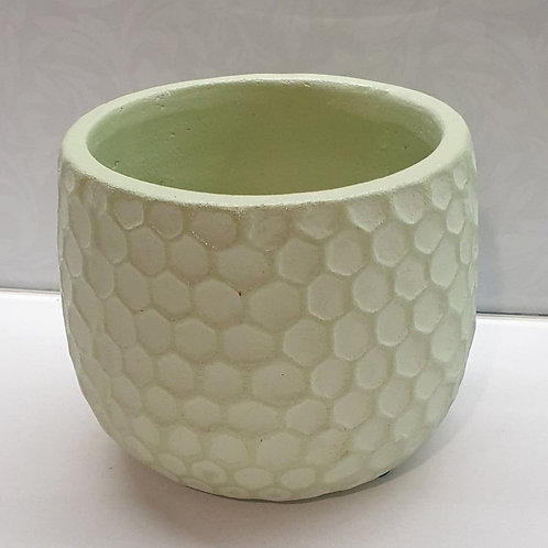 Green Honeycomb Pot