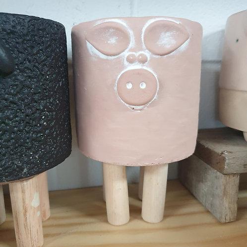 Pig Planter on timber legs
