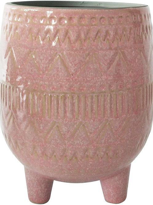 Pink Aztec 3 Leg Pot