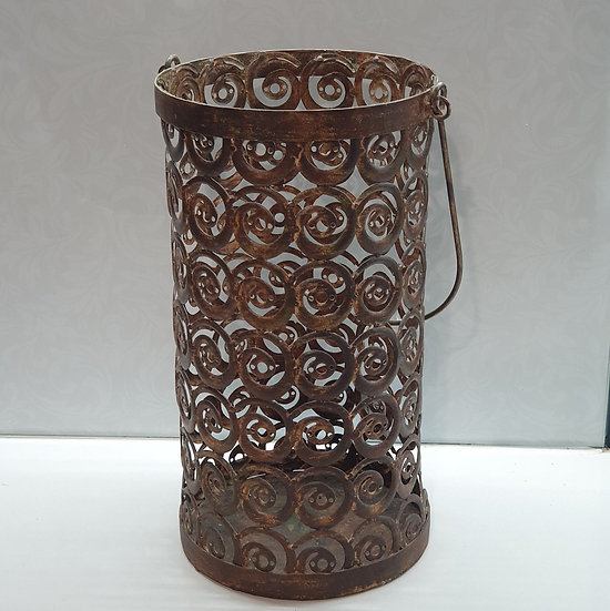Rust Swirl Candleholder