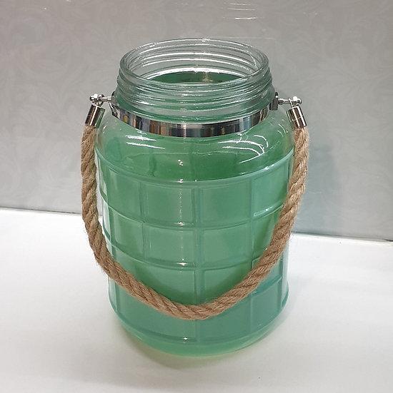 Aqua Vase w/ rope handle