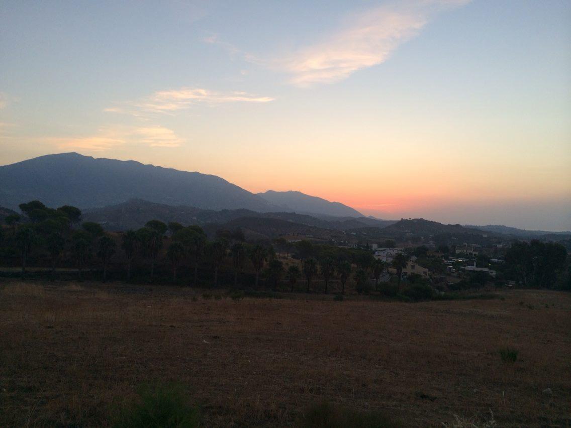 Stunning sunrise looking at Mijas