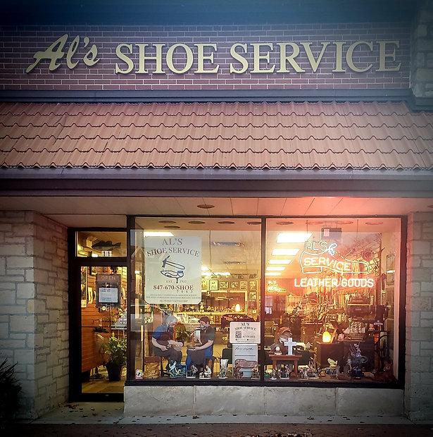 Al's Shoe Service storefront
