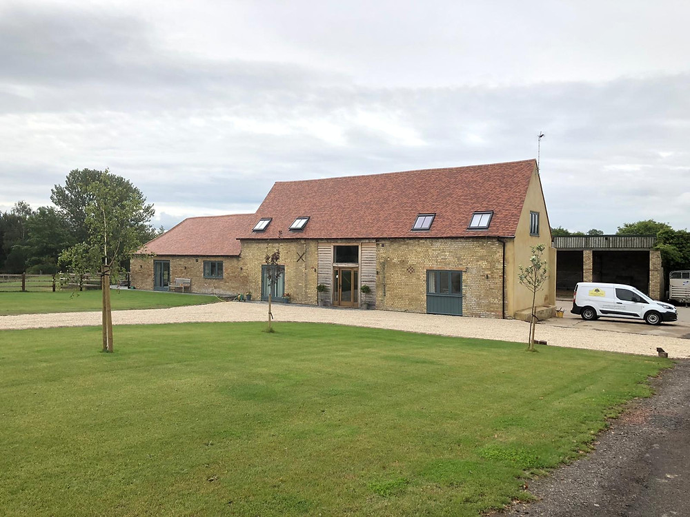 Barn Conversion undertaken in Warwickshire featuring painted timber joinery