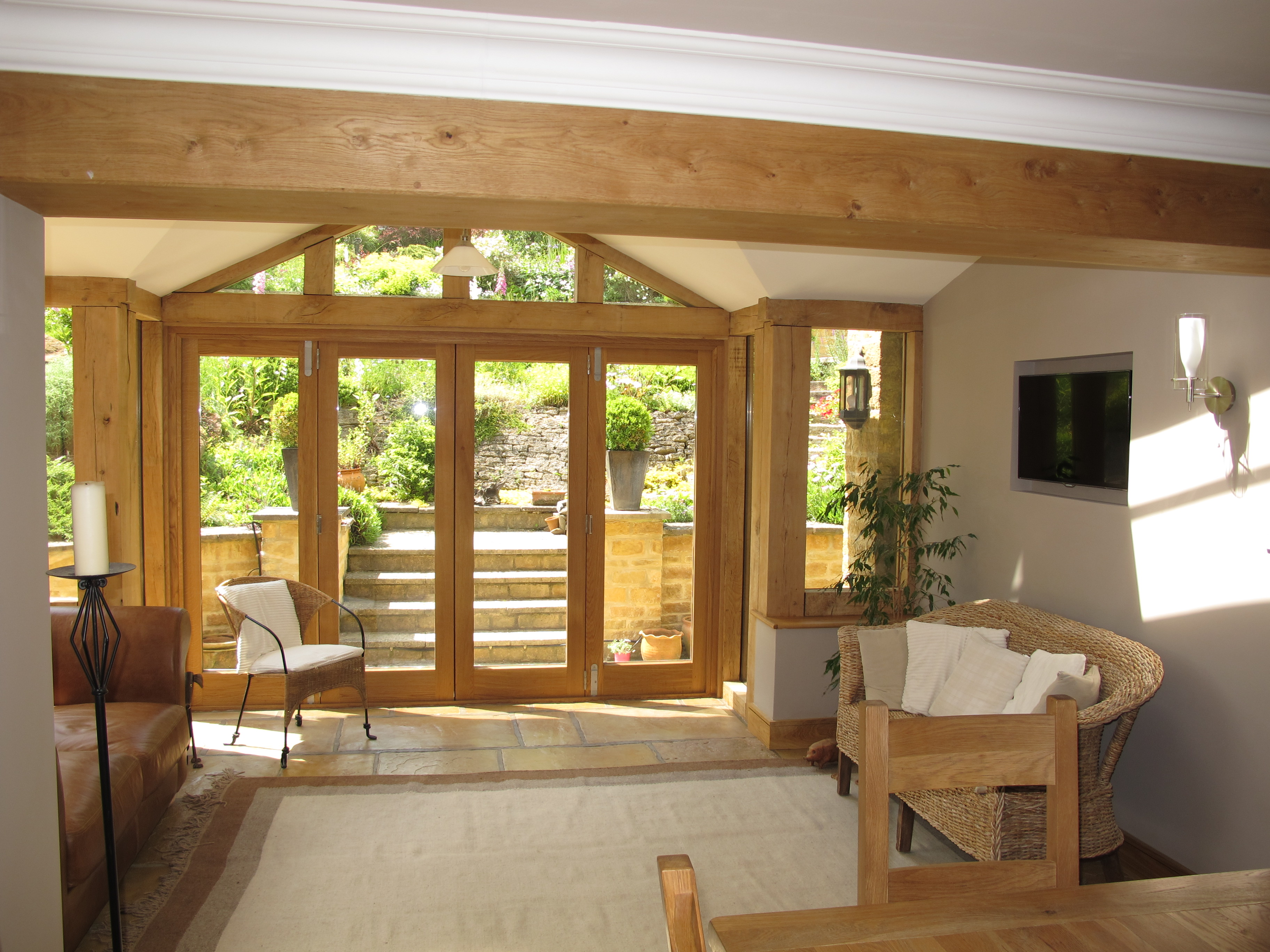 Oak Bi Folding Door Set