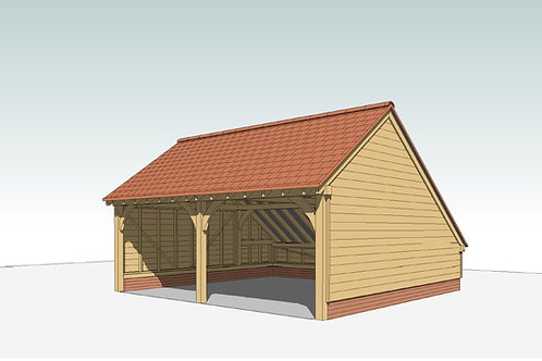 copy of PD 2 Bay Oak Frame Garage Kit