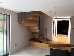 Oak ZigZag Stairs