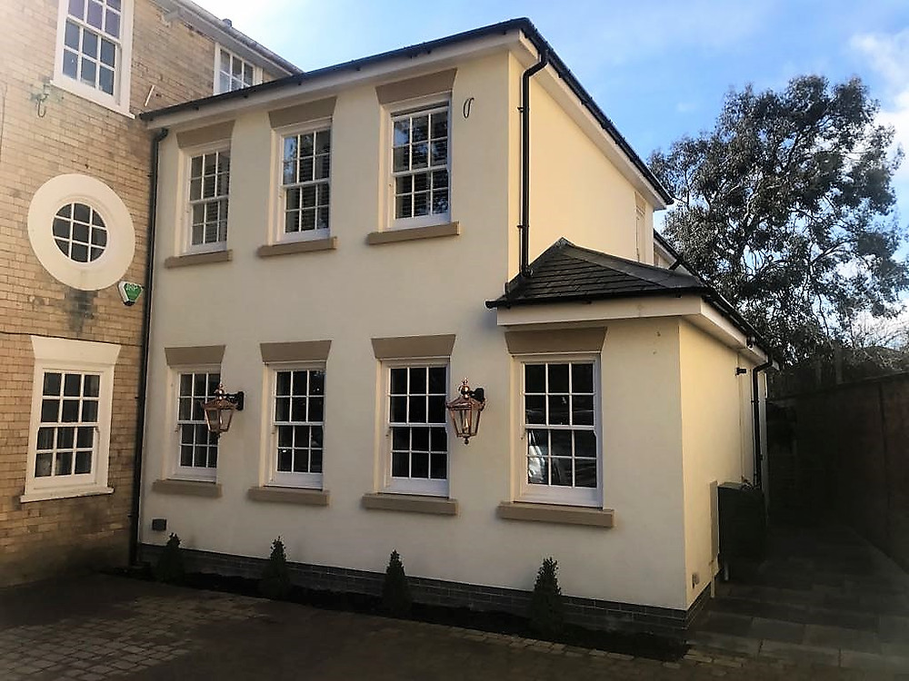 Period Townhouse: Hardwood Sliding Sash Windows