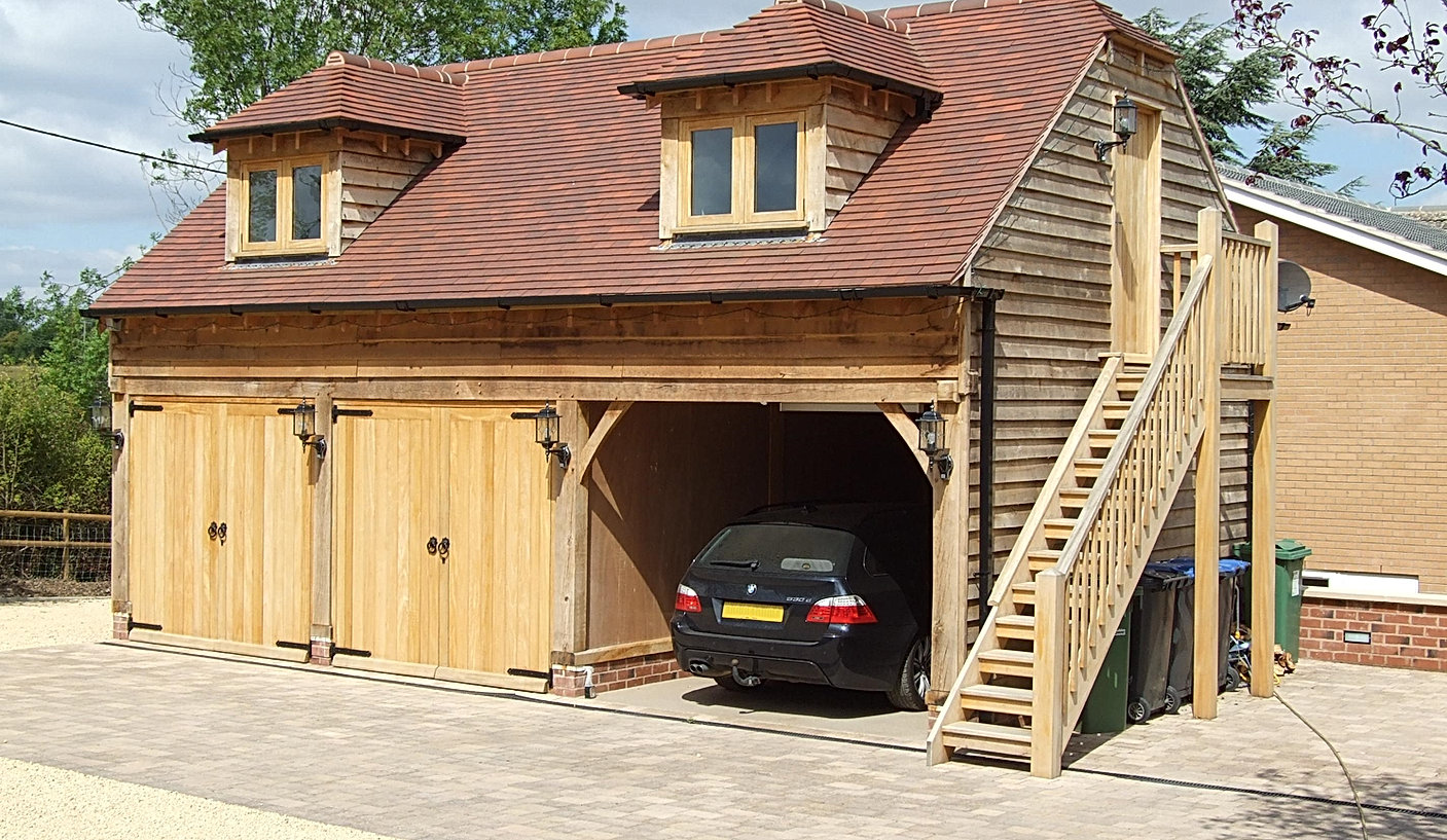 3 Bay Oak Framed Garage with Office above