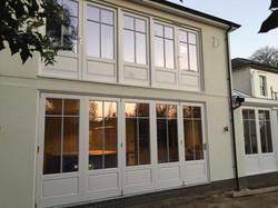 Painted Hardwood Bi Folding Doors