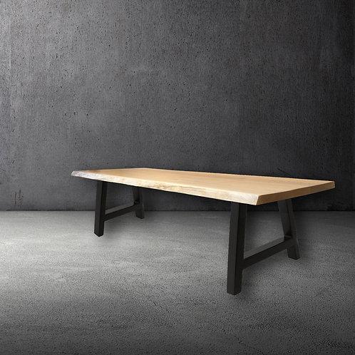 Apex Oak & Steel Live Edge Table