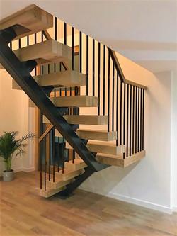 Open Tread Oak Staircase